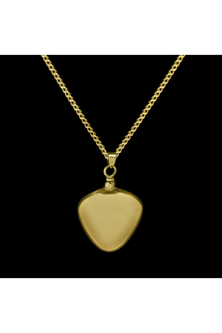 Brass Heart Cremation Pendant #36-580